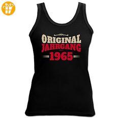 Birthday Shirt - Original Jahrgang 1965 - Lustiges Damen-Top als Geschenk zum Geburtstag - Schwarz, Größe:M (*Partner-Link)
