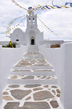 Chrysopigi Church in Sifnos island, Greece Myconos, Greek Isles, Voyage Europe, Greece Islands, Greece Travel, Greece Trip, Albania, Wonders Of The World, Places To See