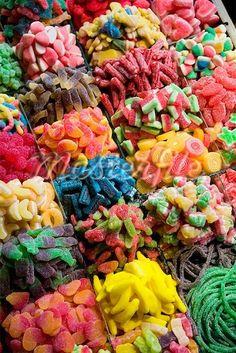 Candy Selection at La Boqueria, Barcelona, Spain