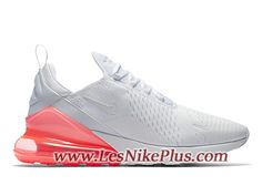 another chance e77d9 84072 Sneaker Nike Air Max 270 Chaussures de Basket Pas Cher Pour Homme Blanc  Rose AH8050-