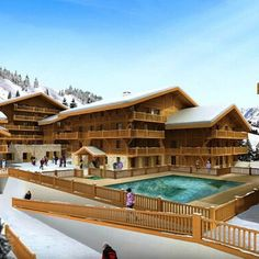 You could own your own apartment in this delightful complex complete with spa #Property #Snow #Chalet #Ski #RealEstate #Spa