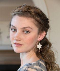 LC4286 dangling flower earrings free #crochet pattern