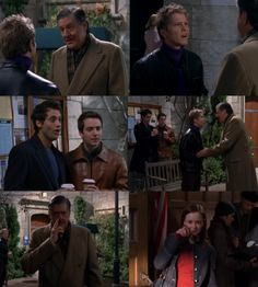 Rory and Richard prank Logan - such a funny Gilmore Girls scene!... One of my favorite