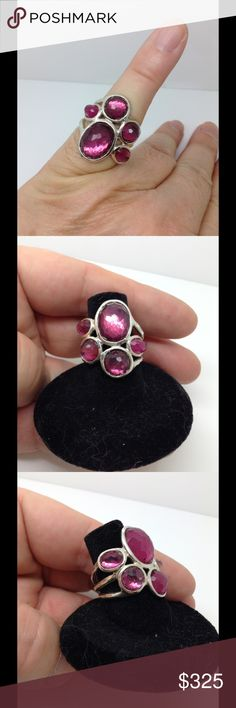 Ippolita Sterling silver red gemstone fashion ring Firm price ippolita Jewelry Rings