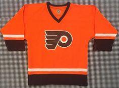 Philadelphia Flyers Youth Replica Hockey Jersey Size Large Orange NHL #NHL #PhiladelphiaFlyers
