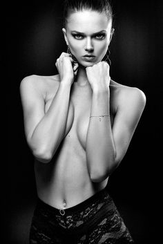 Photograph Anouchka by Sylvio Testa on Bb Beauty, Sexy Poses, Female Portrait, Beautiful Celebrities, Sensual, Photoshoot, Black And White, Monochrome, Edgy Photography