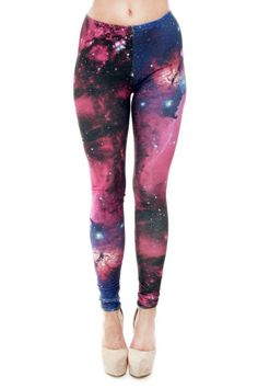Funky digital print galaxy design footless fashion leggings. These statement pants are great for everyday wear and for workouts and yoga!   Galaxy Leggings by BRANDED. Clothing - Bottoms - Pants & Leggings San Diego, California