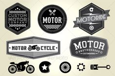 Vintage Motor Badges $5 only http://graphicriver.net/item/vintage-motor-badges/4768077?WT.ac=portfolio&WT.z_author=shasuw