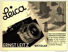 Original-Werbung/Inserat/ Anzeige 1932 - LEICA KAMERA / LEITZ WETZLAR / MOTIV WEIHNACHTEN - ca. 140 x 110 mm