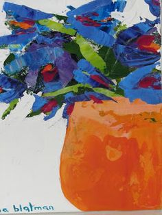 When Melbourne artist Anna Blatman stumbled upon our little gallery while visiting Hobart a few months ago, she thought it would be the per. Art Floral, Floral Artwork, Abstract Flowers, Acrylic Art, Art Plastique, Painting Inspiration, Flower Art, Watercolor Paintings, Art Projects
