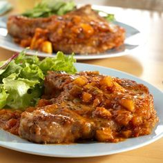 Simply delicious and ready in 30 minutes, this recipe is sure to win over your family. Picante sauce, brown sugar and sliced apple make ordinary pork chops extraordinary.
