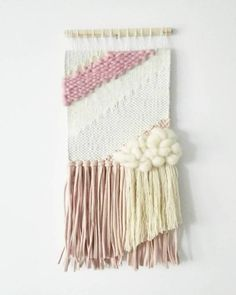 how make Hand Woven woll hand made made Tapestry Weaving, Loom Weaving, Hand Weaving, Crochet Wall Hangings, Weaving Wall Hanging, Weaving Designs, Weaving Projects, Rope Art, Weaving