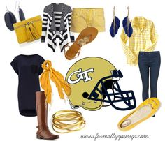 """""""Georgia Tech Game Day"""" by formallyyoursga on Polyvore"""