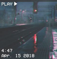 M O O N V E I N S 1 0 1 #vhs #aesthetic #rails #train #glitch #night If you want a vhs edit please message me the following: -A picture (which you want to be edited) -A time and date -A certain quote/name (optional)