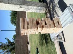 Life-sized Jenga! Perfect for an outdoor BBQ!