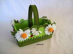 Watering Can & Basket - Felt Easter Baskets - Ramsdens Ltd