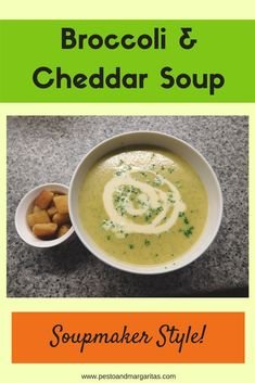 Broccoli and Cheddar Soupmaker Soup - A lot of soup recipes don't use a soupmaker but this one is an adaption of a normal recipe especi - Blender Recipes, Crockpot Recipes, Cooking Recipes, Healthy Recipes, Whole30 Recipes, Healthy Options, Delicious Recipes, Vegetarian Recipes, Herb Recipes