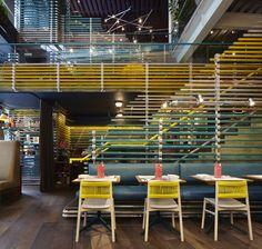 Wahaca; United Kingdom / Softroom. Image Courtesy of The Restaurant & Bar Design Awards