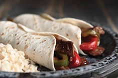 BBQ Beef Fajitas  1 Tbsp. oil  1 lb.  beef sirloin steak, cut into strips  1 red pepper, cut into strips  1 green pepper, cut into strips  1 onion, halved, sliced  1/2 cup Kraft Original BBQ Sauce  8 small flour tortillas  Saute meet in skillet 3 min. Add veggies and saute another 3-4 min or until meat is done and veggies are tender.