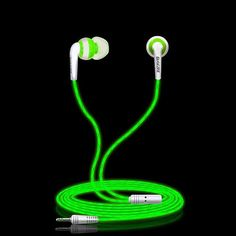 Glylezee G1 Luminous Stereo Cellphone Earphone Headset MP3 Music Headsets Glowing in Dark for Mobile Phone with Retail Package