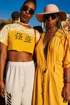 See All The Afropunk Outfits That Slayed #refinery29  http://www.refinery29.com/2016/08/121572/afropunk-2016-street-style#slide-4  A little Lemonade yellow goes a long way....