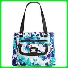 e671cec91a Style & Co. Womens Yassimen Floral Print Satchel Handbag Blue Medium -  Satchels (*