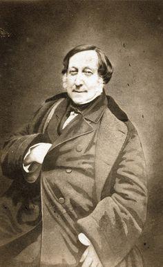 Nadar - Gioachino Rossini,1856 My favourite classical composer.