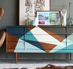 58 Ideas for retro furniture painted dresser makeovers Apartment Furniture, Living Room Furniture, Paint Furniture, Furniture Design, Furniture Ideas, Geek Furniture, Furniture Storage, Space Furniture, White Furniture
