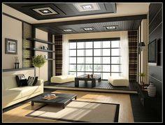 living room, living, room, decor, modern, zen, cute, sofa, black, white, black and white, view, panoramique, salon, salles de séjour, salons, salle de séjour