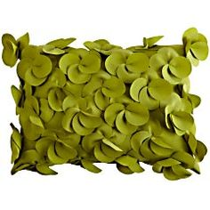 Outdoor Petal Pillow: Green thumb or not, this lush little number is guaranteed to make your patio or porch come alive. Toss it outside with a few floral friends, and you'll be ready to throw a garden party. Green Theme, Green Colors, Pantone Greenery, Cute Cottage, Shades Of Teal, Love Your Home, Textiles, Toss Pillows, Olive Green