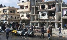 Estado Islâmico ataca duas cidades sírias e deixa mais de cem mortos  Foto: Bairros de Damasco e Homs ligados ao presidente Assad foram atingidos por bombas