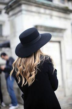 black and hat coat