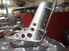 Metal Shaping / Fabrication by Sollis: Hot Rod Seats Stainless / Aluminum billet work is done by Dave Moal Bomber Seats, Sheet Metal Work, Wooden Greenhouses, Metal Shaping, Drift Trike, Metal Fabrication, Aluminum Metal, Classic Trucks, Hot Cars