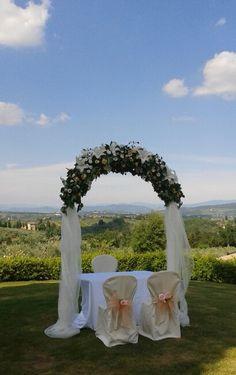 Matrimonio.  Arco per cerimonia civile. Giugno 2015