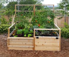 5 Determined Hacks: Backyard Garden Boxes How To Grow backyard garden decor raised beds.Backyard Garden Deck Back Yard simple backyard garden kids. Cedar Raised Garden Beds, Diy Garden Bed, Building A Raised Garden, Garden Boxes, Raised Beds, Cedar Garden, Design Jardin, Garden Design, Fence Design