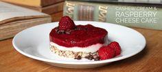 Raspberry Cashew Cream Cheesecake