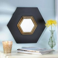 Noir Wall Mirror III | Kirklands $14.99