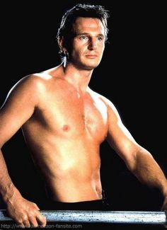 Young Liam Neeson was and still is such a BABE