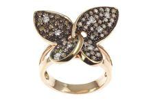 Online veilinghuis Catawiki: Roségouden ring bezet met 1.53ct witte en bruine diamant