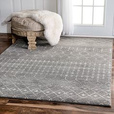 Traditional Vintage Moroccan trellis Dark Grey Area Rugs, 8 Feet by 10 Feet (8' x 10')