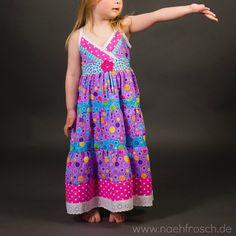 Nähfrosch Sommerkleid Lorelei von Jolijou Farbenmix Stoff aus Indonesien Kleid Nähen