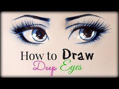 Cómo dibujar y colorear caras realistas para muñecas - Patrones gratis