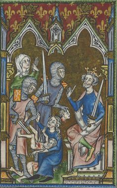 The Massacre of the Innocents - the Peterborough Psalter