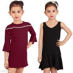 Frocks & Dresses Elegant Cotton Lycra Blend Kids Dresses Fabric:  Cotton Lycra  Blend Sleeve Length: Three-Quarter Sleeves Pattern: Solid Multipack: Pack Of 2 Sizes: 2-3 Years3-4 Years4-5 Years5-6 Years6-7 Years7-8 Years Country of Origin: India Sizes Available: 2-3 Years, 3-4 Years, 4-5 Years, 5-6 Years, 6-7 Years, 7-8 Years   Catalog Rating: ★4.2 (441)  Catalog Name: Free Mask Agile Fancy Girls Frocks & Dresses CatalogID_1053415 C62-SC1141 Code: 836-6611189-
