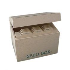 boite kraft pour sachets de graines par botanique ditions boite de rangement en kraft avec. Black Bedroom Furniture Sets. Home Design Ideas