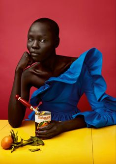 Grace Bol by Chisato Yamamoto for Luncheon Magazine (April Foto Fashion, Fashion Shoot, Editorial Fashion, Editorial Photography, Portrait Photography, Fashion Photography, Advertising Photography, African Beauty, African Fashion