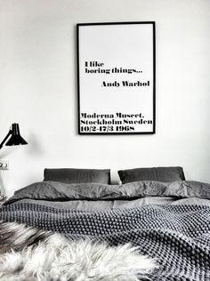 Mustavalkoinen #sisustus #makuuhuone