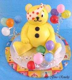 Pudsey Bear D Cake Topper