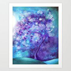 Tree of Life Wall Art Whimsical Art Large Format door AnnyaKaiArt