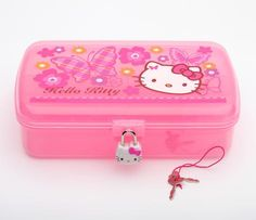 Hello Kitty Jewelry Case with Lock: Butterfly